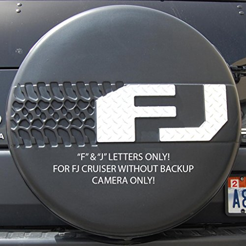 Fj Cruiser Tire Cover - Ferreus Industries Diamond Plate Tire Cover F & J Letters w/o Bkup Cam fits: 2007-2013 Toyota FJ Cruiser OTH-102-13-a