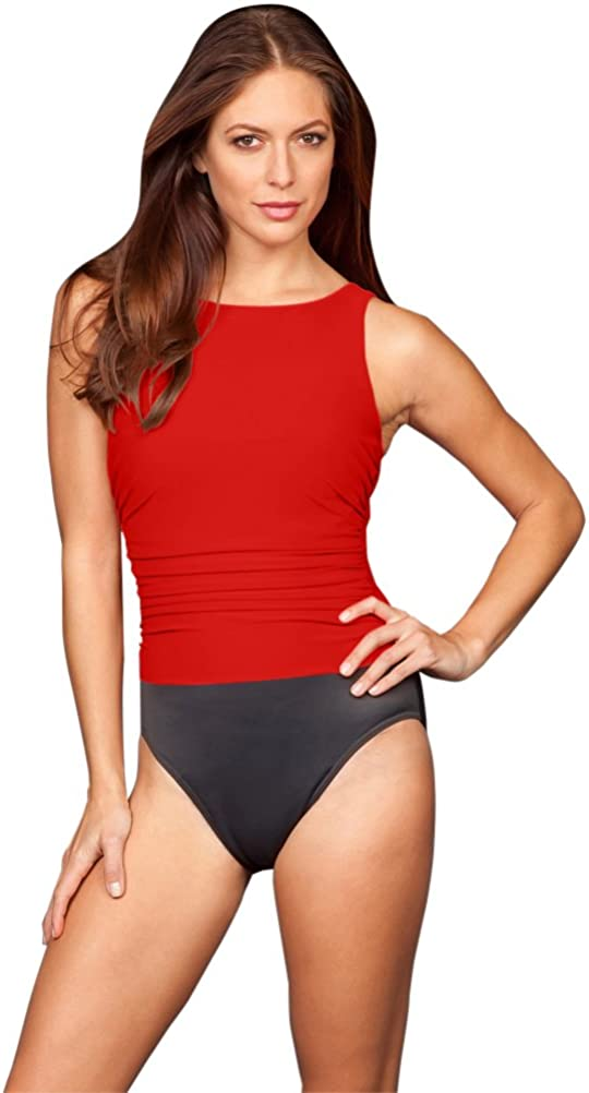 Miraclesuit Lipstick Red Colorblock DD-Cup Regatta Underwire One Piece Swimsuit Size 10DD