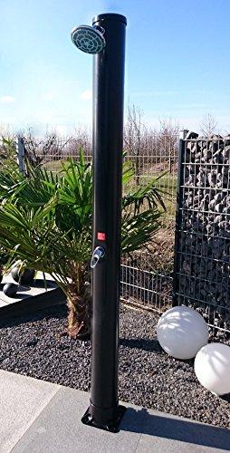 Solardusche 34 Liter WelaSol® Gartendusche 2,20 m mit Wellness Duschkopf