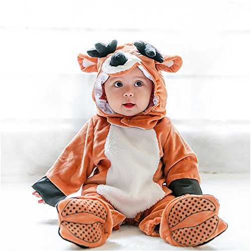 Toddler Costume, MagicQK Christmas Cute Baby Animal Costumes for infants from 3-Month to 3 Years Old (3-6 Months/XXS/24