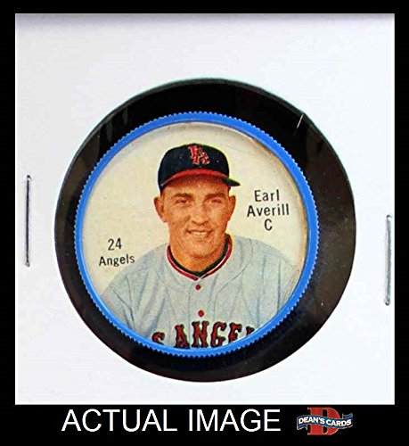 1962 Salada Coins # 24 RED Earl Averill Jr. Los Angeles Angels (Salada Baseball Coins)
