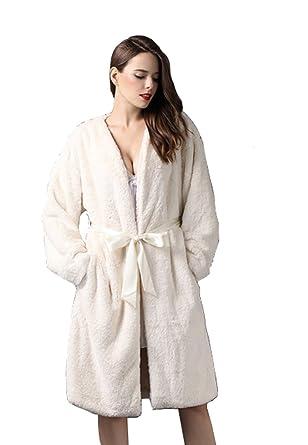 e452139377 Lepoux Women s Polar Fleece night robe at Amazon Women s Clothing store