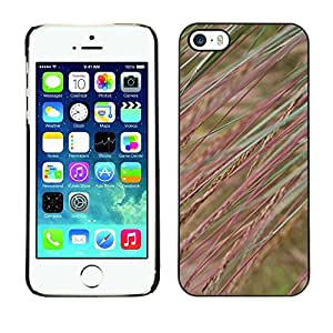 Soft Silicone Rubber Case Hard Cover Protective Accessory Compatible with Apple iPhone? 5 & 5S - field nature grass rye