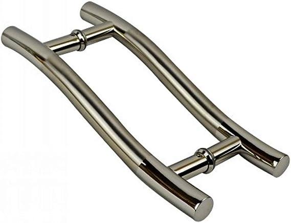 HSAW Perillas de Puertas S-Mango en Forma de Tubo de la manija de Puerta del Acero Inoxidable Puerta corredera de Cristal de la Puerta manija sólida manija de la Puerta Tirador de