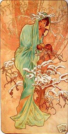 Hot Stuff Enterprise 3755-12x18-AD Winter Alphonse Mucha Poster from Hotstuff