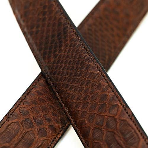 Chiccheria Brand Élégant Ceinture en cuir python pour homme en forme de serpent en tissu GQ Longueur véritable Texture serpent fabriquée à la main en Italie