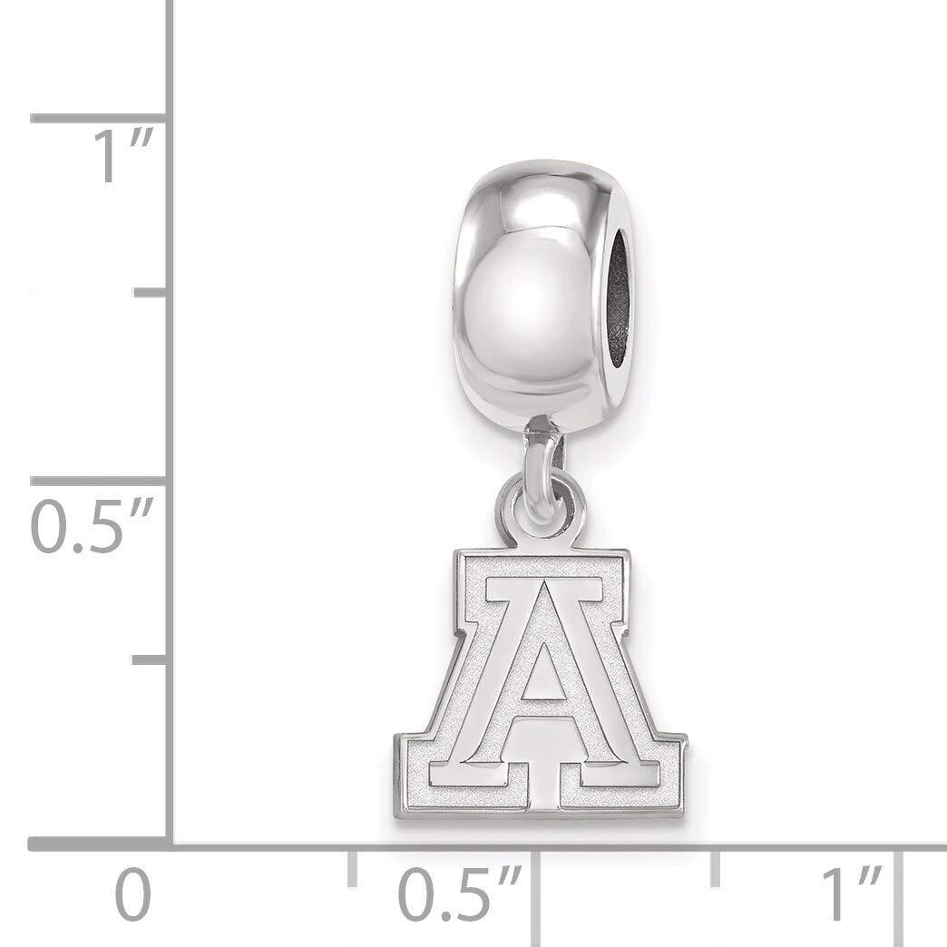 Lex /& Lu LogoArt Sterling Silver University of Arizona XS Dangle Bead Charm LAL145932