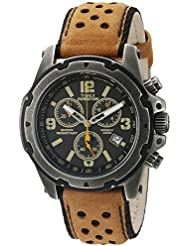 Timex Mens TW4B01500 Expedition Sierra Tan/Black Leather Strap Watch