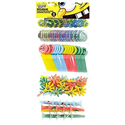 amscan SpongeBobParty Supplies | Party Favor | Pack of 100: Toys & Games