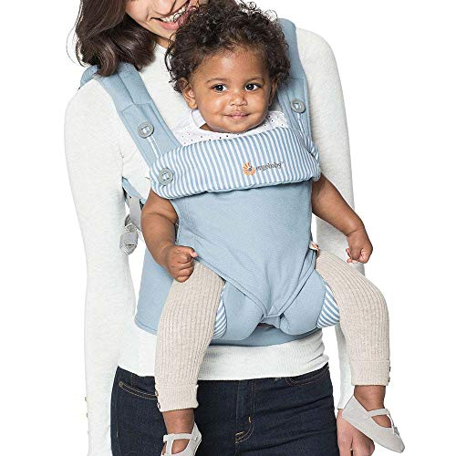 Ergobaby 360 All-Position Baby Carrier with Lumbar Support (12-45 Pounds), Pure Black (Discontinued Model)