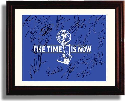 Framed Dallas Mavericks Team Autograph Replica Print - Dallas Mavericks