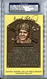 FRANK ROBINSON Signed Yellow HOF Plaque Postcard PSA/DNA Slabbed Cincinnati Reds Baltimore Orioles Los Angeles Dodgers MVP Winner Triple Crown 1982 Hall of Fame Member