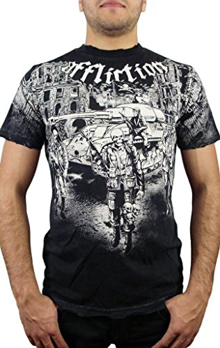 Affliction Ghost Army Short Sleeve T-Shirt XXL Black (Affliction Short Sleeve T-shirt)
