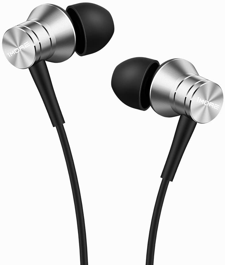 1MORE Piston Fit In-Ear Earphones Auriculares Duraderos de Moda con Aislamiento de Ruido, Sonido Puro, Control del Teléfono con Micrófono para Teléfonos Inteligentes / PC / Tableta,Silver