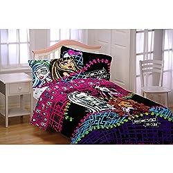 Mattel Ml6068 Monster High All Ghouls Allowed Comforter, Twinfull