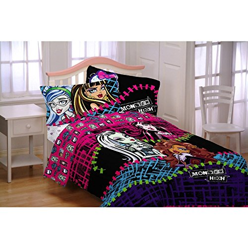 Price comparison product image Mattel ML6068 Monster High All Ghouls Allowed Comforter, Twin/Full