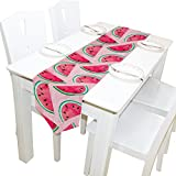 ALAZA Table Runner Home Decor, Stylish Watercolor Watermelon Fruit Table Cloth Runner Coffee Mat for Wedding Party Banquet Decoration 13 x 90 inches