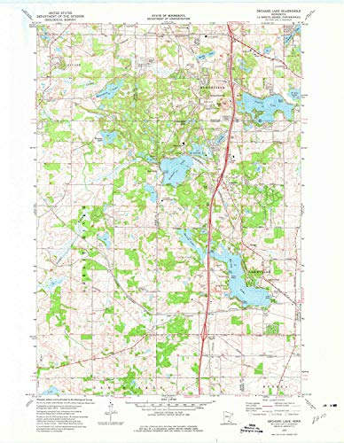 YellowMaps Orchard Lake MN topo map, 1:24000 Scale, 7.5 X 7.5 Minute, Historical, 1974, Updated 1976, 27.3 x 21.2 in - Paper