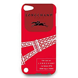 DIY Style Cute Longchamp Paris Logo Phone Case Cover for Ipod Touch 5th 3D Hard cover Case_Red