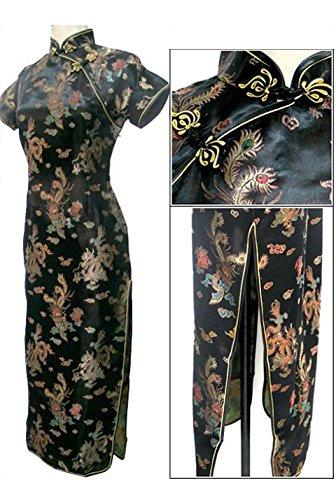 a2eaca79d 7Fairy Women's Vtg Black Long Chinese Evening Prom Dress Cheongsam Size ...
