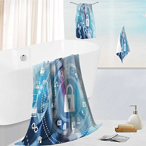 Price comparison product image Analisahome Cabana Beach Towel set internet security online business concept pointing security services Comfortable and Extremely Absorbent