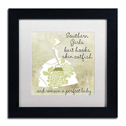 - Southern Belles Two by Color Bakery, White Matte, Black Frame 11x11-Inch