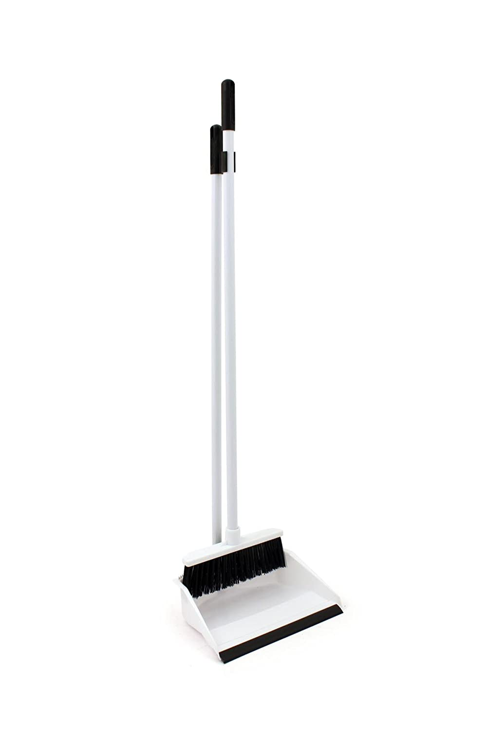 Bentley Industrial P8008/BW Long Handled Dustpan and Brush Set, Black/White Charles Bentley & Son Ltd