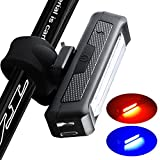 instaFACTOR Rear Bike Light USB Rechargeable Back Bicycle Lights Red Blue Blinking Safety Tail Light Bright Bike Lighting led Flashing Cycling Taillight 5 Models Fits Road Bike, Helmet,Backpack Review