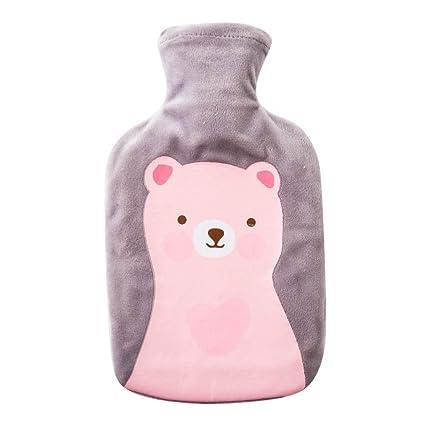 Borsa dellacqua calda a forma di orso in stile cartone animato per