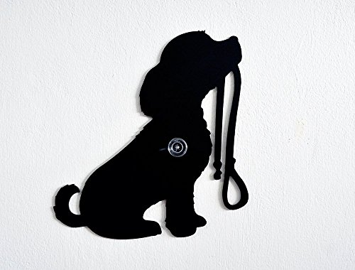 Dog Ready for a Walk Holding his Leash-Wall Hook / Coat Hook / Key Hanger