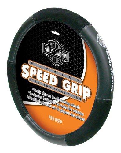 Plasticolor 006450R01 Black Steering Wheel Cover (Harley Speed Grip)