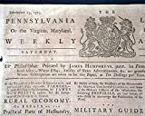 Rare REVOLUTIONARY WAR Tory Title 1775 Philadelphia
