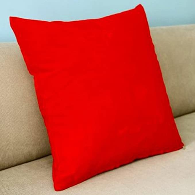 Amazon.com: Honeya rojo oscuro color sólido flocado de ...