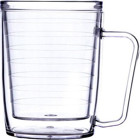 Insulated Plastic Glass (Signature Tumbler Plastic Glass Unbreakable Double-wall Insulated Coffee Mugs 18 Oz)
