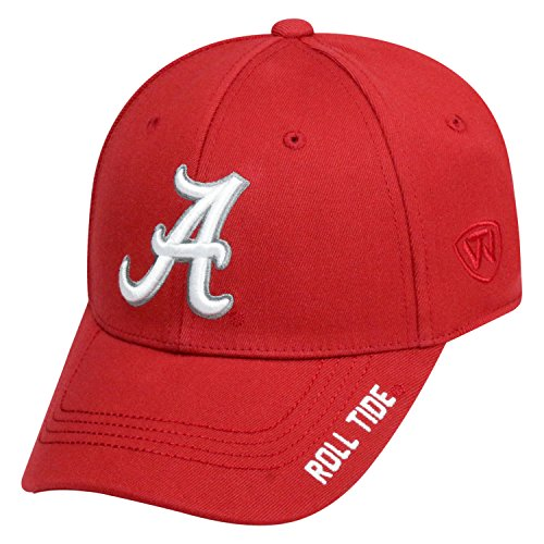 Top of the World NCAA-Premium Collection-One-Fit-Memory Fit-Hat Cap-Alabama Crimson ()