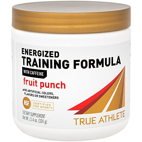 True Athlete Energized Training Formula with Caffeine Fruit Punch, Supports Energy, Endurance Performance NSF Certified for Sport, 90 Servings (10.8 Ounces Powder)