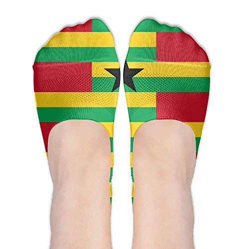 Guinea-Bissau Flag Star Women's No Show Socks Pattern Low Cut Liner Casual Athletic Ankle Socks For (Country Kids Soccer Bootie)