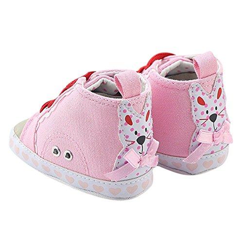 MiyaSudy Baby Mädchen Casual Canvas Sneaker Anti-Rutsch Weiche Sohle Schuhe Lauflernschuhe Krabbelschuhe 0-18 Monate