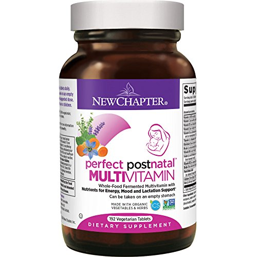 New Chapter Postnatal Vitamins, Lactation Supplement with Fermented Probiotics + Wholefoods + Vitamin D3 + B Vitamins + Organic Non-GMO Ingredients - 192 ct (Packaging May Vary)