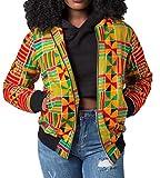 WANSHIYISHE-Women Outdoor Africa Print Ethnic Style Slim Fit Short Jacket Yellow US M