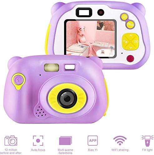キッズカメラ、男の子女の子ギフト用キッズデジタルカメラの12メガピクセルのWiFiキッズデジタルカメラ(ピンク)