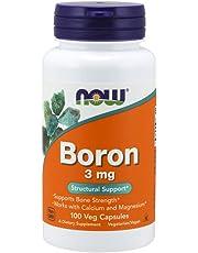 NOW Boron 3 mg,100 Capsules
