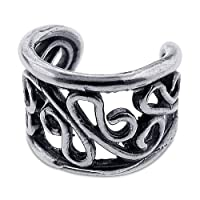 Sterling Silver 925 Ear Cuff for Earrings Swirl Design Nickel Free & Tarnish Free from U.S.A