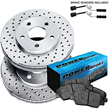 Fit Mercedes-Benz ML55 AMG ML430 Front Rear  Blank Brake Rotors+Semi-Met Pads
