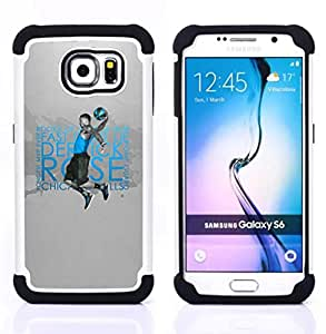 For Samsung Galaxy S6 G9200 - Rookie Of the Year Basketball Dual Layer caso de Shell HUELGA Impacto pata de cabra con im??genes gr??ficas Steam - Funny Shop -