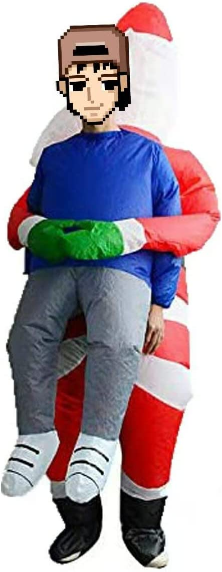 DeHasion Christmas Inflatable Alien Santa Costume Inflatabe ET Dress for Christmas Party Decorations//Halloween Party