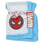 Spider-Man-Super-Soft-MinkSherpa-Blue-Baby-Blanket-30-x-30