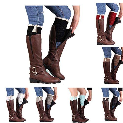 -Nation-Women-Lace-Stretch-Boot-Leg-Cuffs-Boot-Socks