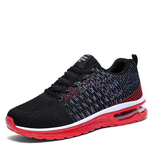 Running Shoes for Women Lightweight Breathable Cross Training Gym for Exercise Air Cushion Athletic (5, Black Blue Stripe)