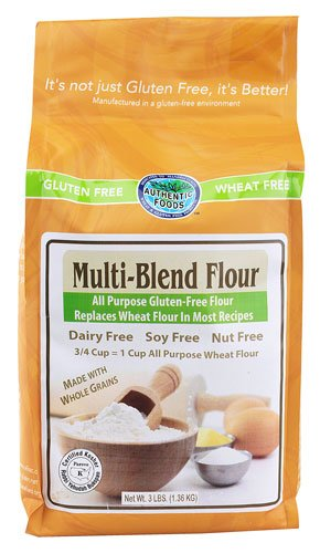 Bread Mix Wheat Free (Authentic Foods Multi Blend Flour - 3 Pounds)